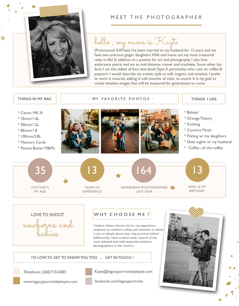 Legacy Portraits by Kayte | Meet Kayte