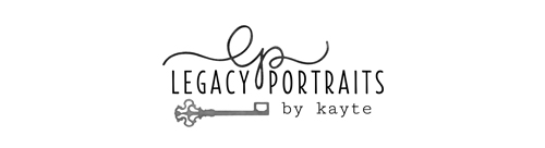 Legacy Portraits by Kayte | Fort Wayne IN Newborn Photographer | Babies | Infants | Maternity | Indianapolis | Angola | Chicago logo